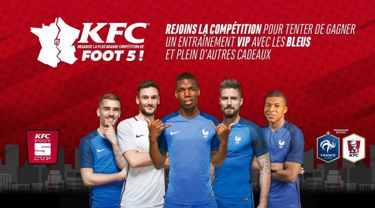 KFC investit dans le Foot à 5 et crée la KFC Foot 5 Cup