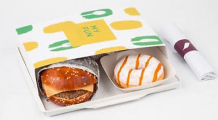 Burger, Donut, Mini Yop et Haribo au menu d'Air France
