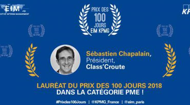 Sébastien Chapalain de Class'croute distingué pour sa prise de fonction remarquée