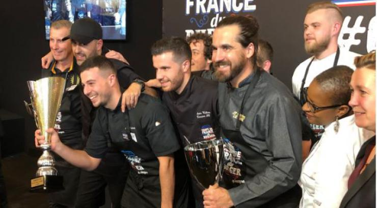 Anthony Verset, avec Le Chaillet, champion de la Coupe de France 2019 du Burger by Socopa