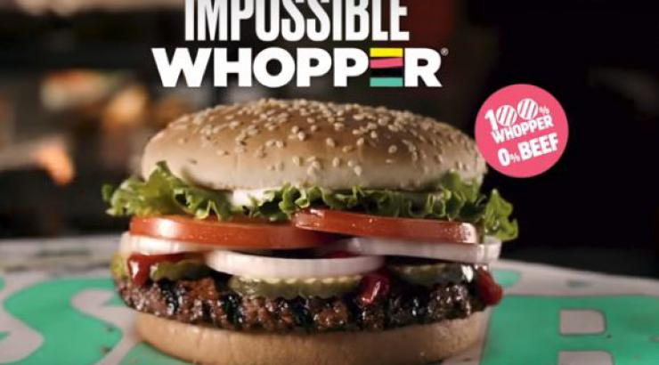 L'Impossible Whopper, le burger 100 % végétal testé par Burger King