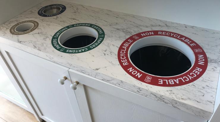 vaisselle usage unique déchet tri