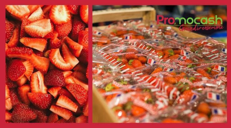 Les fraises Gariguettes et les produits français à l'honneur chez Promocash durant la crise du covid-19