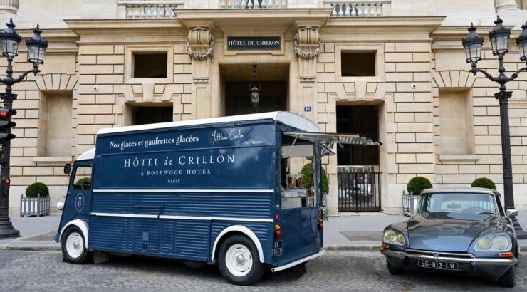 ice cream truck hôtel crillon matthieu carlin glaces