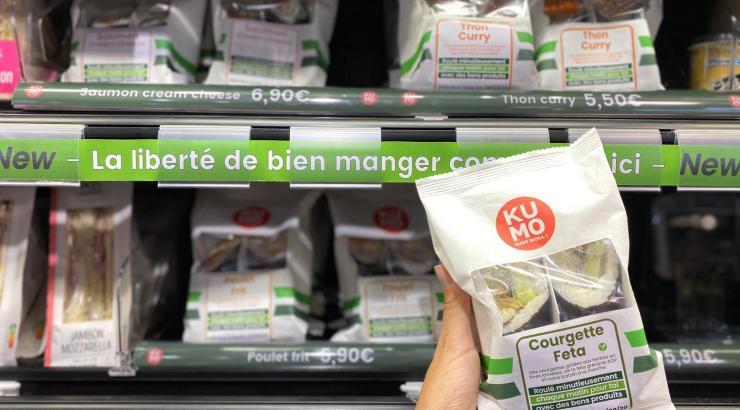 Kumo installe ses rolls ultra-frais chez Carrefour à Paris