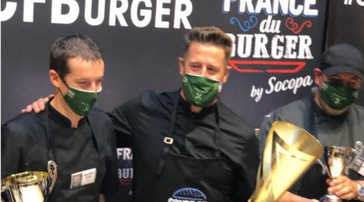 Samuel Besnard, Champion de France du burger by Socopa 2020 avec son Bœuf qui ris