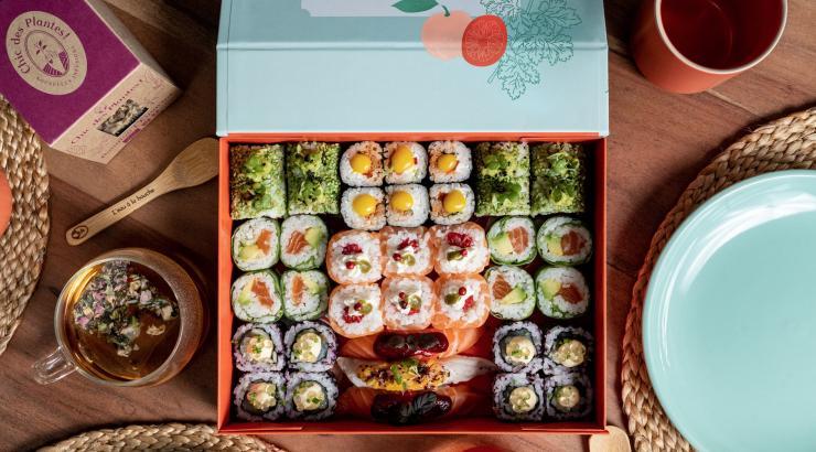 côte sushi chic des plantes