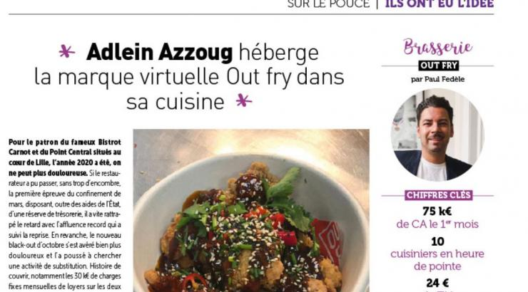 Le restaurateur Adlein Azzoug se lance dans la livraison en hébergeant la marque virtuelle Out Fry à Lille