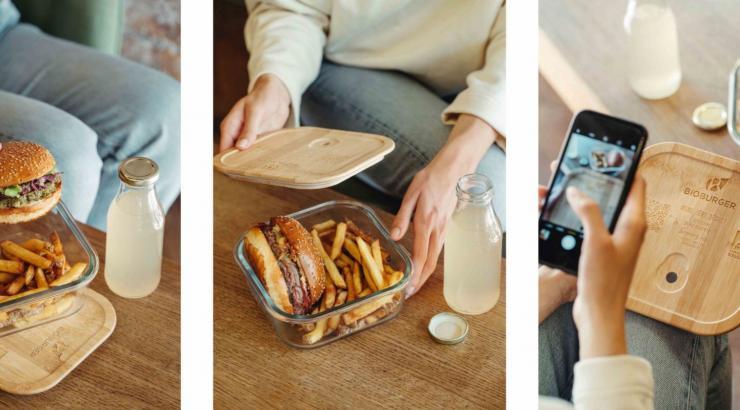 Uber Eats et Bioburger testent un système de consigne en livraison