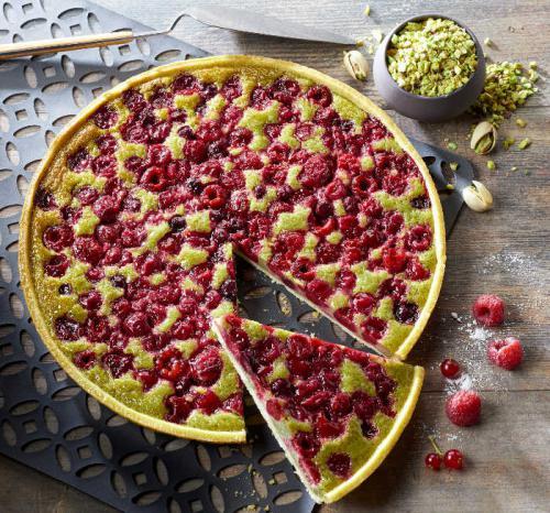 La Tarte Fruits Rouges Pistache