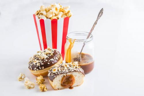Donuts Otis Spunkmeyer caramel popcorn