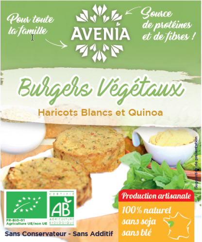 Burgers végétaux Avenia