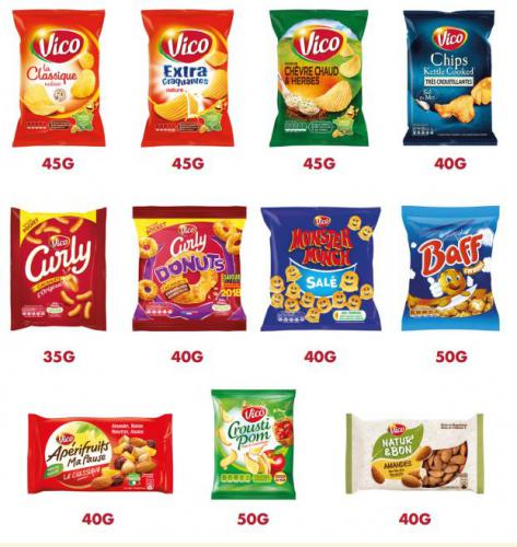 Gamme snacking formats individuels