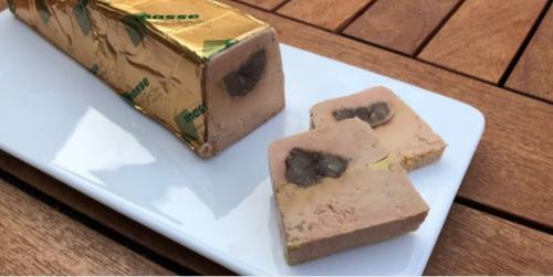 Gourmandises de foie gras aux marrons