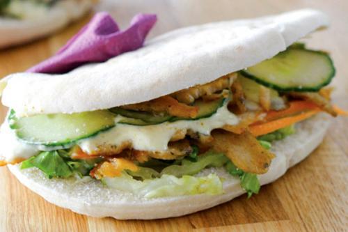 Lamelles végétales au soja façon Kebab