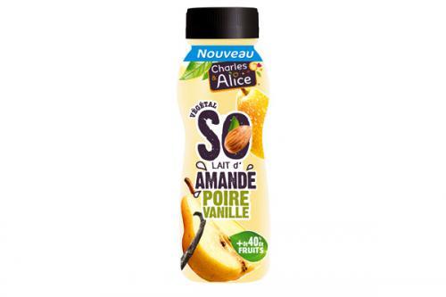 Dessert végétal à boire So'Amande Poire-Vanille