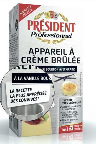 Crème brûlée à la vanille bourbon avec grains