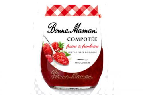 Compotée de fraises & framboises Bonne Maman
