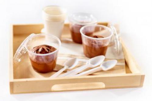 Mousse au chocolat 'réduit' en sucre