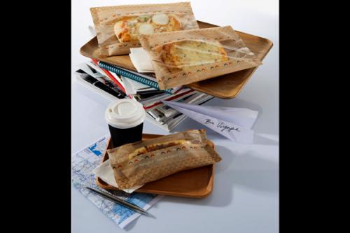 Concept produit de snacking dans un flow pack avec fenêtre compatible
