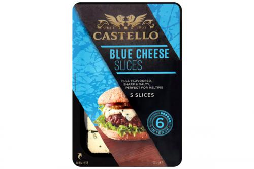 Blue cheese burger slices
