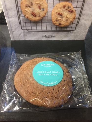 Cookie chocolat noir noix de coco