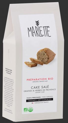 Le cake salé graines & herbes de Provence
