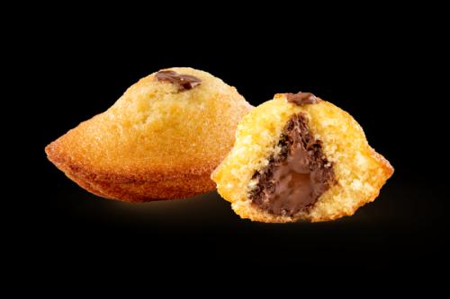 Madeleine Juste à dorer fourrée chocolat noisette