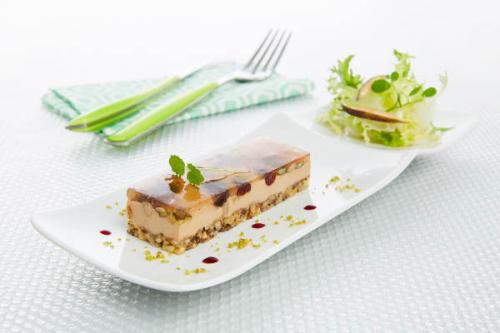 Craquant bloc de foie gras et fruits secs