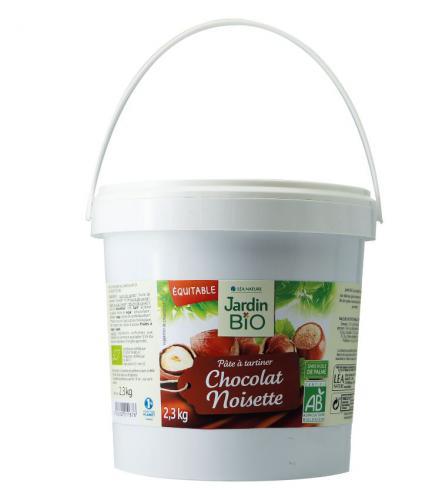 Pâte à tartiner chocolat-noisette Jardin Bio
