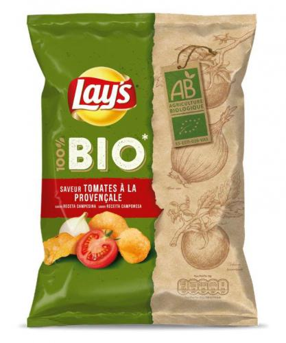 Lay's 100 % bio Nature et Tomate