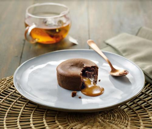 Moelleux au chocolat coeur caramel au sel de Guérande