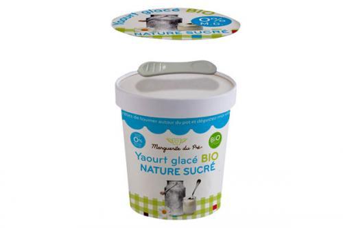 Yaourt glacé bio 0 % de matière grasse – nature