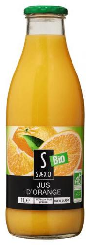 Pur jus de fruits d'orange bio Saxo