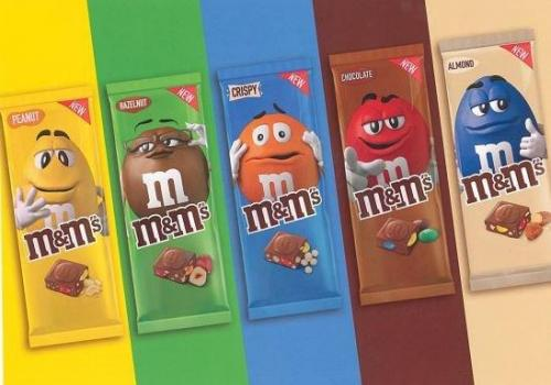 Tablettes M&Ms
