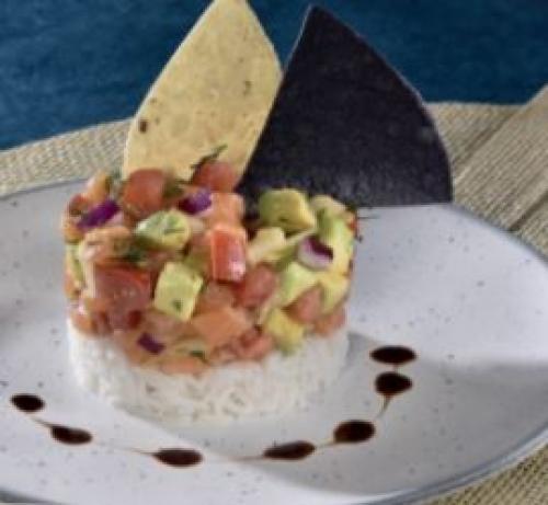Tartare de saumon ciboulette
