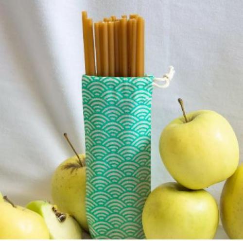 La paille en pomme comestible