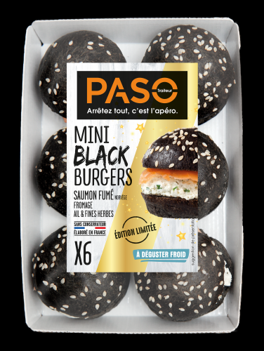 Mini Black Burgers saumon fumé