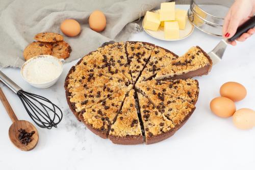 Flan pâtissier choco-cookie