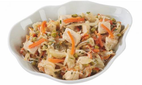 Salade Thaï et Salade de saumon fumé aux nouiiles aux oeufs
