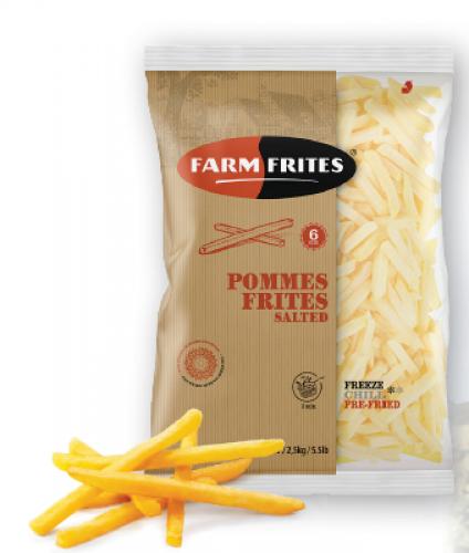 Frites pré-salées 6mm