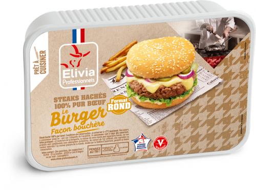 Steak haché Pur bœuf façon bouchère rond spécial burger
