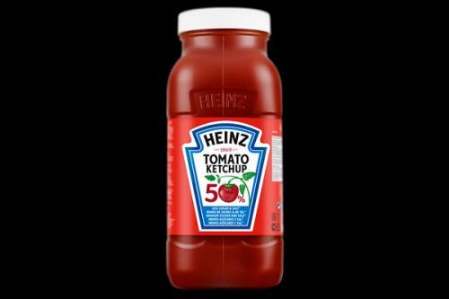 Heinz Tomato Ketchup, 50 % de sucre et sel en moins