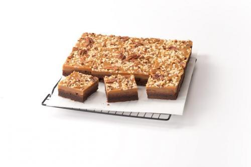 Brownie gourmand chocolat caramel et fruits secs