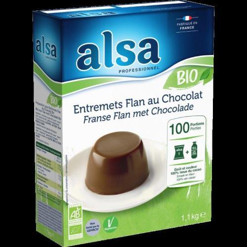 Entremets Flan bio à la vanille ou au chocolat