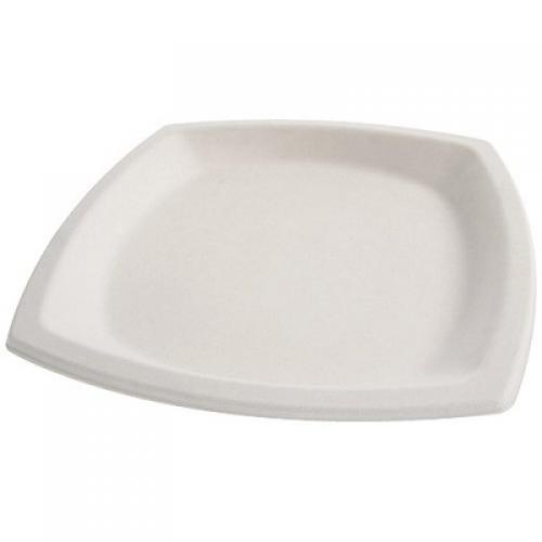 Assiettes en pulpe blanche Ø 21 cm