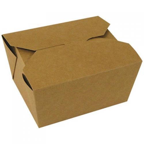 Boîtes bio en carton kraft brun 755ml
