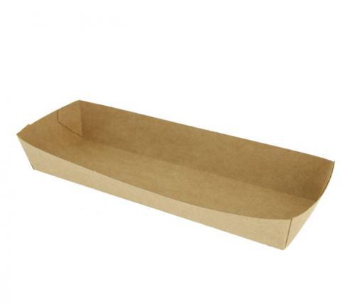Etui hot dog en carton kraft brun