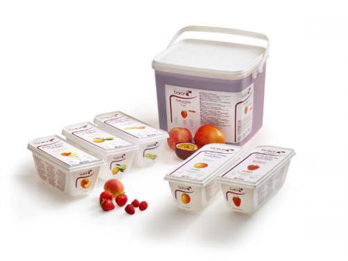 Purées de fruits 100 % mangue, fraise et framboise