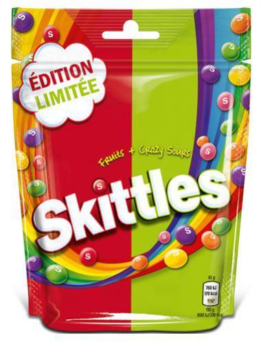 Skittles fruits et Crazy Sours